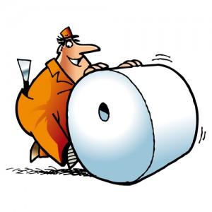 бумага в рулонах и листах